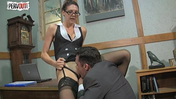 slow kinky handjob Wife fucks her cross dresser husband with strapon
