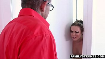 the seduce repairman milf german Boys spy drunk passed out