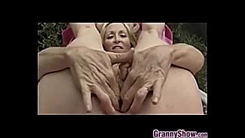 pussy hanging granny Walking with cum filled panties