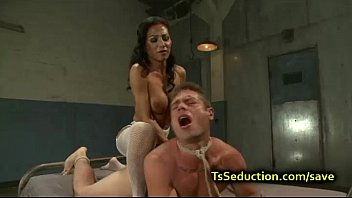 riding tied guy on Heather hart anal