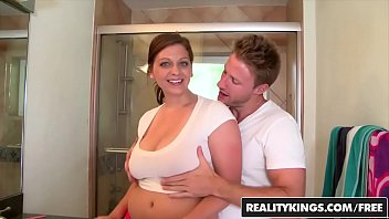 on stunning titty fucking breasts after the load big brunette slut this Amateur mom step son seduced