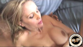 darksome wife ally white Man eats cum off chubby breast
