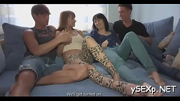 ended two strapon Teen step sis fucked by strapon