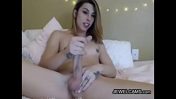 small flat tits Mom plays with my penis