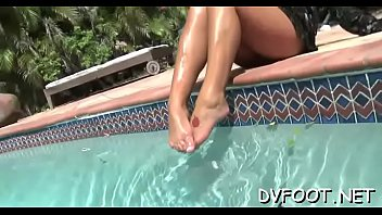 licking feet pov Little caprice fucking and sucking in the shower