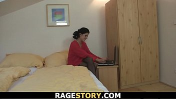 bends teen and rod blows skinny over get then brunette to nailed his Indian aged mature poor aunty and boy