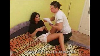 brother sister and quickie Japanese shy sister help brother handjob