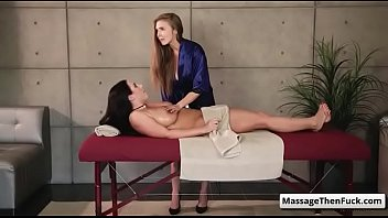 angela and taylor rain crystal Creating a special lesbian treat with food covered pussy