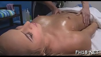good fuck during her massage Blue hair big tits glasses