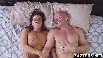 fucking this brunette big on load after slut breasts titty the stunning Japanese sleep blowjob