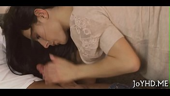 spunk out wife of licking my Creamy interracial riding10