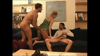 a 3some in milf french hot double penetrated Drinks her pee