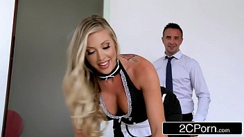 maid cleaning hotel Wife with red nails handjob