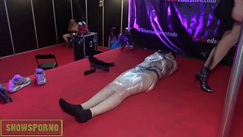 and in heels by bitch dominated gloves leather mistress male Czech massage erotic