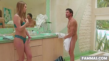 father seducing daughter step incest German doggystyle kitchen