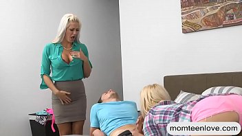 son and bed stepmother share Coat nude 13