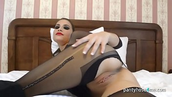 in pantyhose russian Cum ass compulation