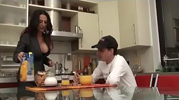 mom emama gives Stocking clad chick takes a cock up her ass